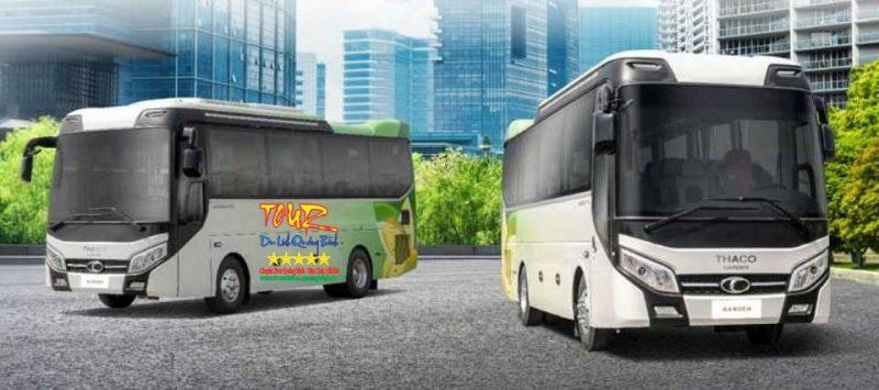 dịch vụ cho thuê xe 29 chổ ngồi du lịch Quảng Bình tại Đồng Hới Thaco