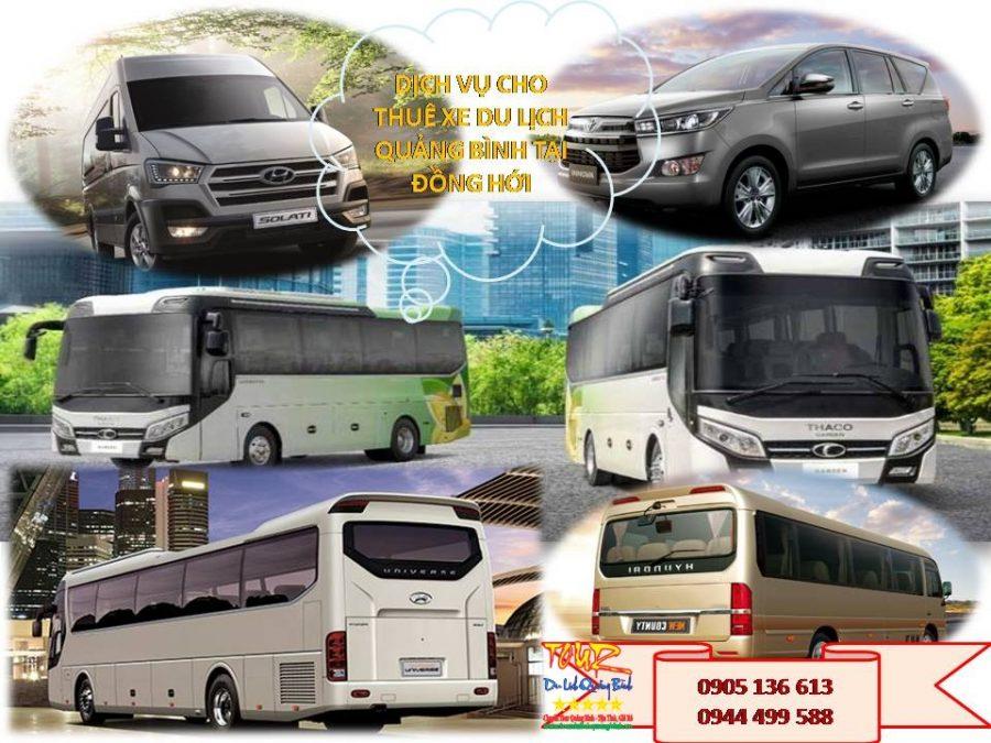 dịch vụ cho thuê xe du lịch Quảng Bình tại Đồng Hới