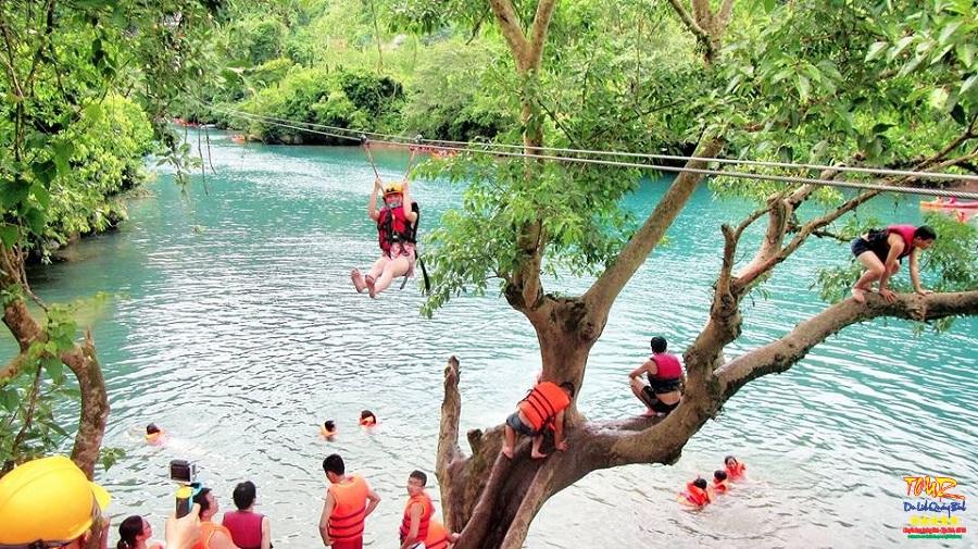Zipline sông Chày - Hang Tối, tour du lịch Quảng Bình 1